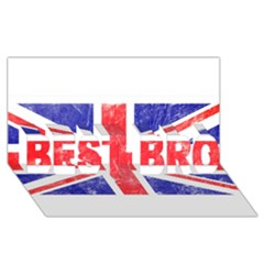 Brit6 BEST BRO 3D Greeting Card (8x4)