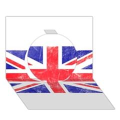Brit6 Circle 3d Greeting Card (7x5)