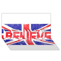 Brit6 Believe 3d Greeting Card (8x4)