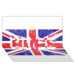 Brit6 HUGS 3D Greeting Card (8x4)