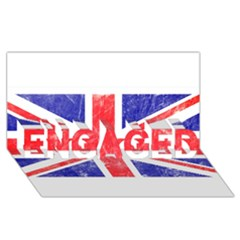 Brit6 ENGAGED 3D Greeting Card (8x4)