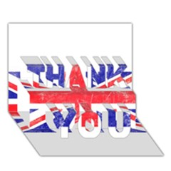 Brit6 THANK YOU 3D Greeting Card (7x5)