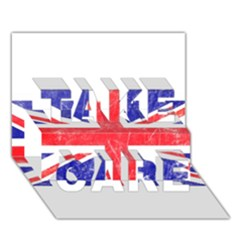 Brit6 TAKE CARE 3D Greeting Card (7x5)