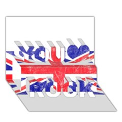 Brit6 You Rock 3D Greeting Card (7x5)