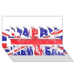 Brit6 Happy New Year 3d Greeting Card (8x4)