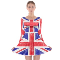 Brit6 Long Sleeve Skater Dress
