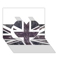 Brit7 Heart 3D Greeting Card (7x5)
