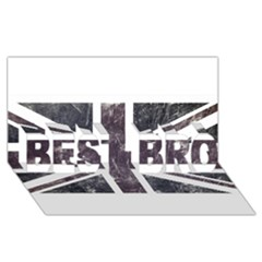 Brit7 BEST BRO 3D Greeting Card (8x4)