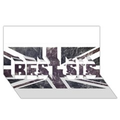 Brit7 BEST SIS 3D Greeting Card (8x4)