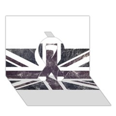 Brit7 Ribbon 3D Greeting Card (7x5)