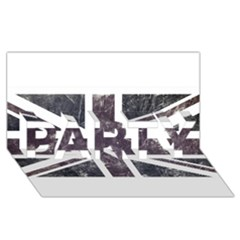 Brit7 Party 3d Greeting Card (8x4)