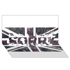 Brit7 Sorry 3d Greeting Card (8x4)