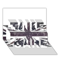 Brit7 TAKE CARE 3D Greeting Card (7x5)