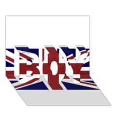 Brit8 BOY 3D Greeting Card (7x5)
