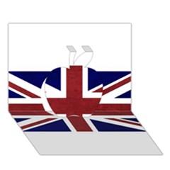 Brit8 Apple 3d Greeting Card (7x5)