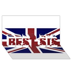 Brit8 BEST SIS 3D Greeting Card (8x4)