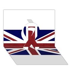 Brit8 Ribbon 3D Greeting Card (7x5)