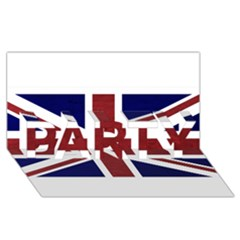 Brit8 PARTY 3D Greeting Card (8x4)