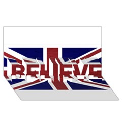 Brit8 BELIEVE 3D Greeting Card (8x4)