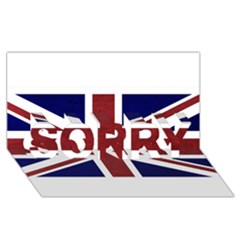 Brit8 SORRY 3D Greeting Card (8x4)