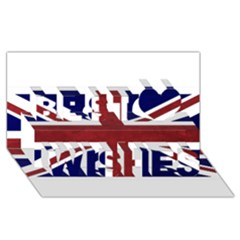 Brit8 Best Wish 3D Greeting Card (8x4)