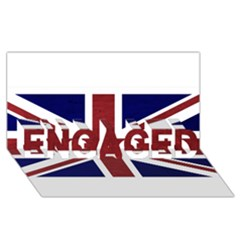 Brit8 Engaged 3d Greeting Card (8x4)