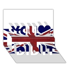 Brit8 You Did It 3D Greeting Card (7x5)