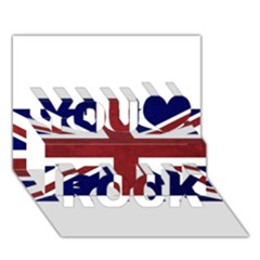 Brit8 You Rock 3D Greeting Card (7x5)
