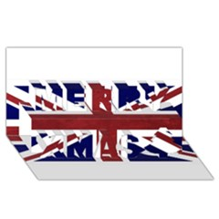 Brit8 Merry Xmas 3D Greeting Card (8x4)