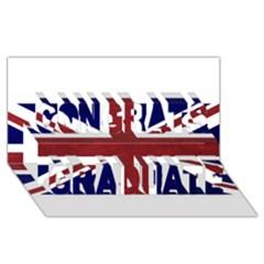Brit8 Congrats Graduate 3D Greeting Card (8x4)