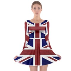 Brit8 Long Sleeve Skater Dress
