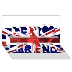 Brit9 Best Friends 3D Greeting Card (8x4)