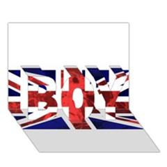Brit9 Boy 3d Greeting Card (7x5)