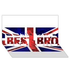 Brit9 Best Bro 3d Greeting Card (8x4)