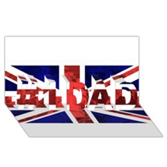 Brit9 #1 DAD 3D Greeting Card (8x4)