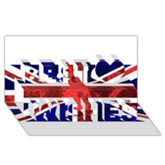 Brit9 Best Wish 3D Greeting Card (8x4)