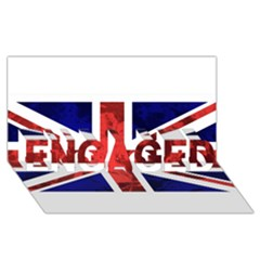 Brit9 ENGAGED 3D Greeting Card (8x4)
