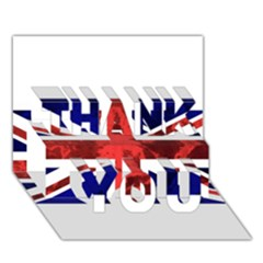 Brit9 THANK YOU 3D Greeting Card (7x5)
