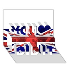 Brit9 You Did It 3D Greeting Card (7x5)