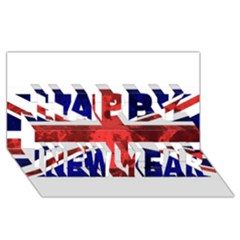 Brit9 Happy New Year 3D Greeting Card (8x4)