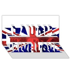 Brit9 Laugh Live Love 3d Greeting Card (8x4)