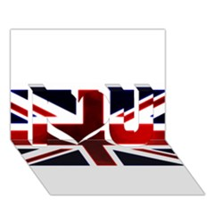 Brit10 I Love You 3D Greeting Card (7x5)