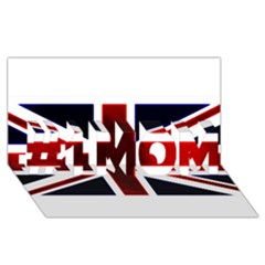 Brit10 #1 Mom 3d Greeting Cards (8x4)