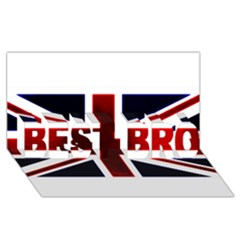 Brit10 Best Bro 3d Greeting Card (8x4)