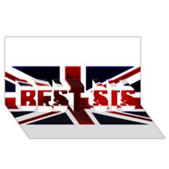 Brit10 BEST SIS 3D Greeting Card (8x4)