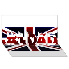Brit10 #1 Dad 3d Greeting Card (8x4)