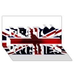 Brit10 Best Wish 3D Greeting Card (8x4)
