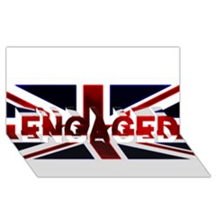 Brit10 ENGAGED 3D Greeting Card (8x4)