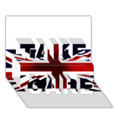 Brit10 TAKE CARE 3D Greeting Card (7x5)