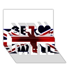 Brit10 Get Well 3d Greeting Card (7x5)
